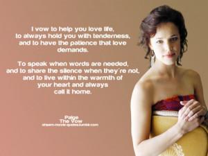 The Vow Movie - Paige Rachel McAdams Quotes