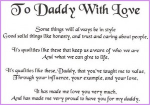 10. To Dad With Love Poem