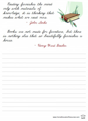 free printable quotes in cursive for handwriting or penmanship ...