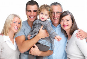 Happy Family with Life Insurance