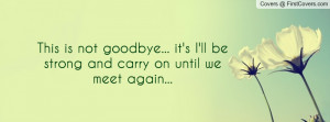 Forever . Funny Goodbye . Funny Goodbye Sayings . Every goodbye its ...