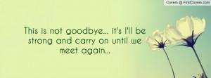 Forever . Funny Goodbye . Funny Goodbye Sayings . Every goodbye its ...