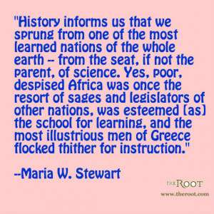 Quote of the Day: Maria W. Stewart on Africa