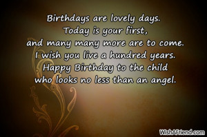 547 1st birthday wishes Lovely Words For Your Birthday