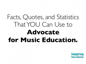 Marketing Music Education: Recent facts, quotes and statistics that ...