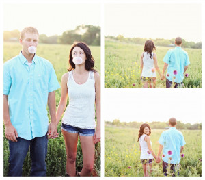 Country Engagement Pictures In Iowa