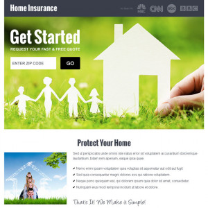 home insurance quote by zip landing page design Home Insurance example