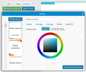 easy ways to customize the look of your proposals in NiftyQuoter