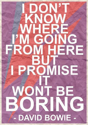 promise you it won't be boring…