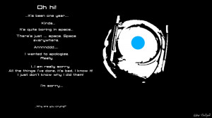Portal 2 birthday: Wheatley by Ether-Orchyd