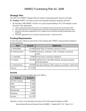 Fundraising Action Plan Template picture
