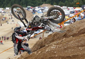 motocross rider participates in the 'Rocket Ride' race during ...