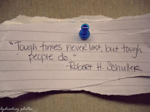 Tough times...