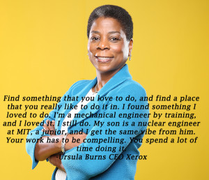 Xerox CEO Ursula Burns answers a question on energy policy Thursday