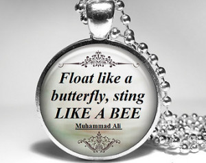 Muhammad Ali Pendant, quote necklac e, Inspirational Jewelry - Float ...