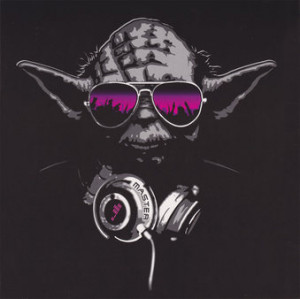Star Wars - DJ Yoda Greeting Card