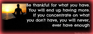 Be Thankful Timeline Cover