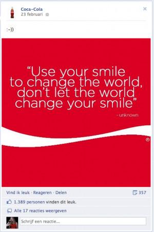 Facebook coca cola quote