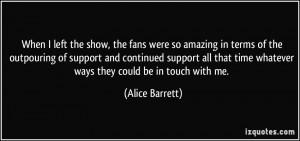 More Alice Barrett Quotes