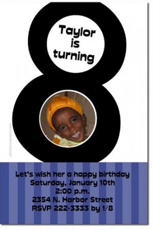 8th birthday invitations eighth birthday invitations