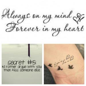 couple quote tattoos couple quote tattoos couples matching tattoos ...