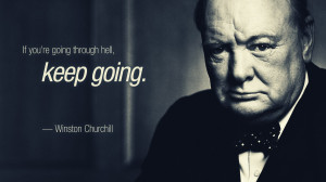 Winston Churchill – Keep Going Quote Wallpaper