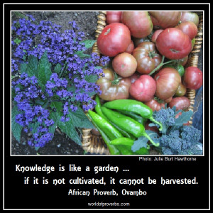 if it is not cultivated, it cannot be harvested.