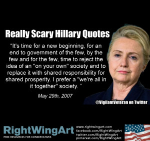 Really Scary Hillary Quotes No. 005