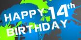 Happy 14th Birthday Happy 14th Birthday banner sign