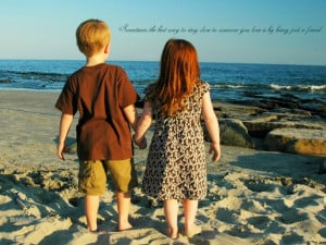 Friendship Wallpaper Of A Girl And A Boy With Quote Image