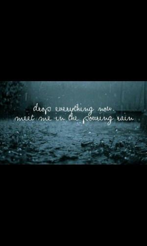 Running in the rain...priceless.