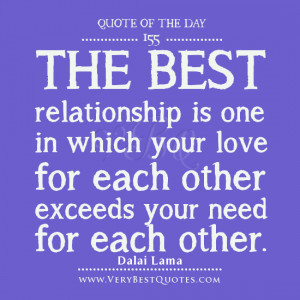 relationship Quote Of The Day, the best relationship quotes, Dalai ...