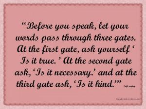 Sufi saying about speak
