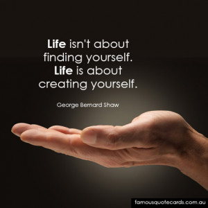 Quotecard Life is about creating yourself
