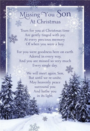 Missing You Son at Christmas