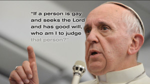 Pope's words on gay people have Catholics talking