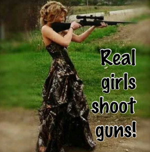 Real girls shoot guns!(;