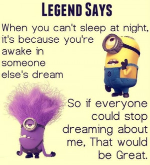LEGEND SAYS when you can't sleep