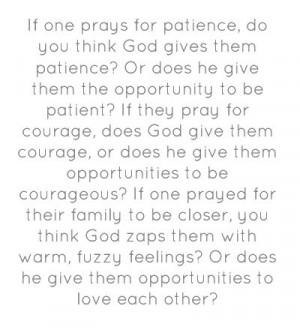 Opportunities (quote: Morgan Freeman, as God in Evan Almighty)