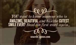 You want to know someone who is amazing, beautiful and has the cutest ...