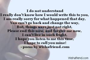 do not understandI really