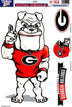 Georgia Bulldogs Uga Bulldog Mascot Logo Ultra Decal Sheet 11x17