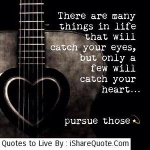 There are many thing in life…