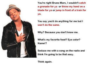 bruno mars funny quotes