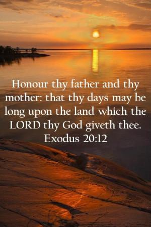 Exodus 20:12 (KJV)