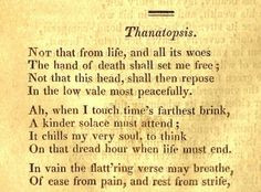 ve appreciated the poem Thanatopsis by William Cullen Bryant ever ...