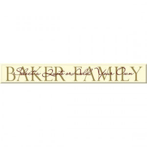 Family Sign with Quote - Available with your Family Last Name ...
