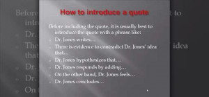 How to Use quotes in academic writing « Humanities