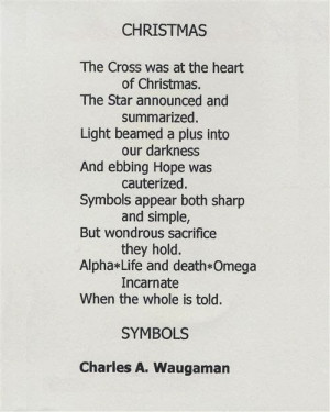 This poem describe happiness from Christmas comming by symbol system ...