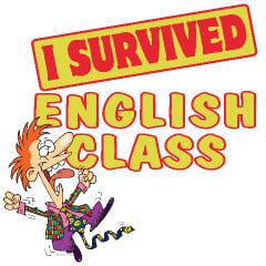 SURVIVED ENGLISH CLASS Custom T-Shirts